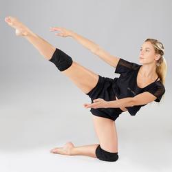 女款現代與街舞護膝 - 黑色