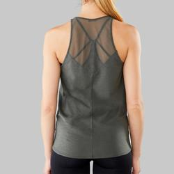 Camiseta sin mangas mujer danza moderna verde oliva negro