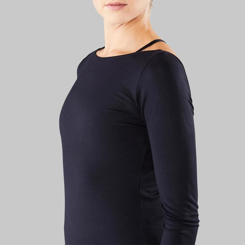 well known details for big discount Vêtements danse moderne - Tee-shirt manches longues femme de danse moderne  noir
