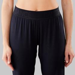 Pantalon fluide modulable de danse moderne femme noir