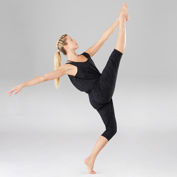 Tanzanzug Aufwärmtraining Damen anthrazitgrau meliert