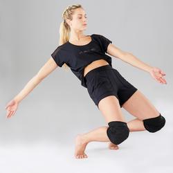 Kniebeschermers moderne dans en streetdance dames zwart