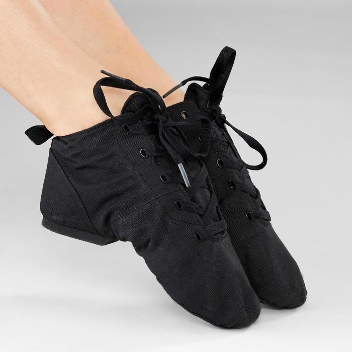 Hohe Tanzschuhe Modern Jazz Leinen schwarz