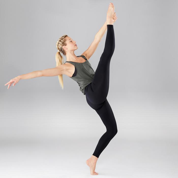 Leggings sin costuras danza moderna mujer negros