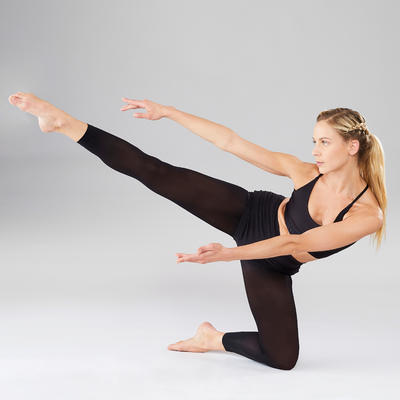 Collants sans pied de danse classique femme noirs