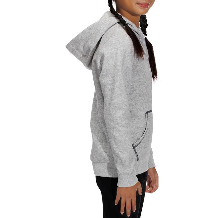 Kinder hoodie Horse ruitersport gemêleerd grijs