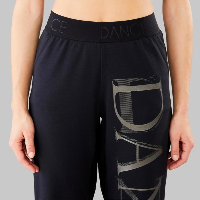 Soepele en aanpasbare broek voor moderne dans dames zwart