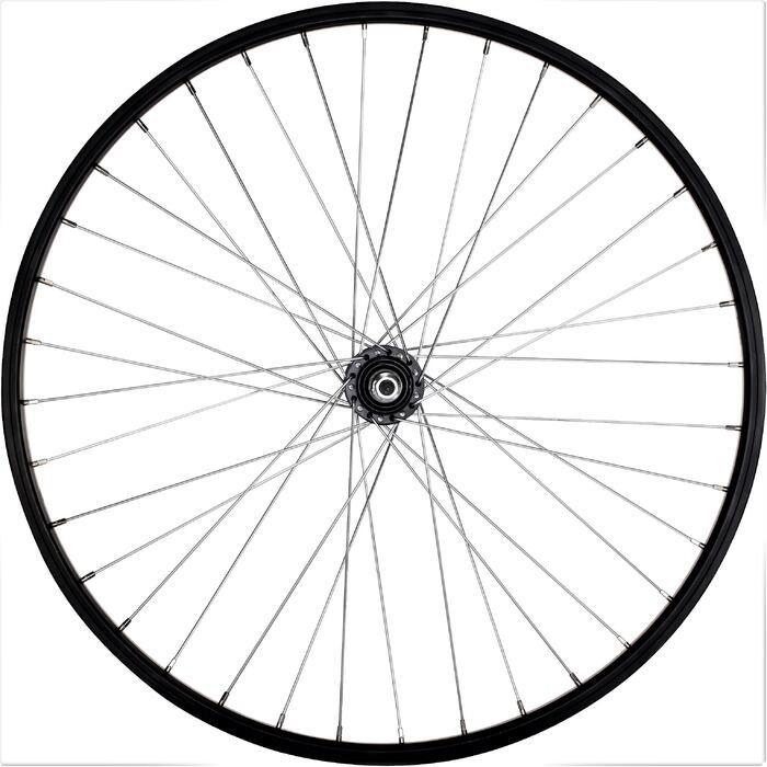 """Achterwiel voor MTB 26"""" enkelwandig V-brake voor freewheel zwart"""