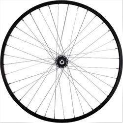 "RUEDA BTT 26"" NEGRA TRASERA PARED SIMPLE ROSCA"