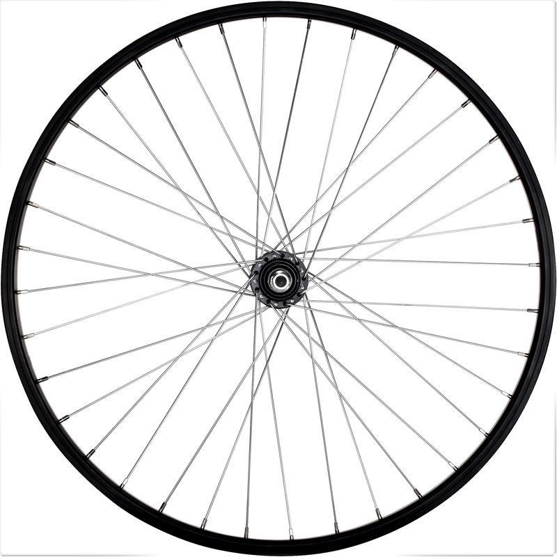 "Wheel 26"" Rear Single-Walled V-brake Freewheel - Black"