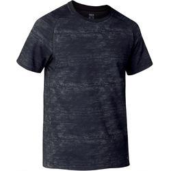 T-shirt voor gym heren 540 Free Move donkergrijs met print