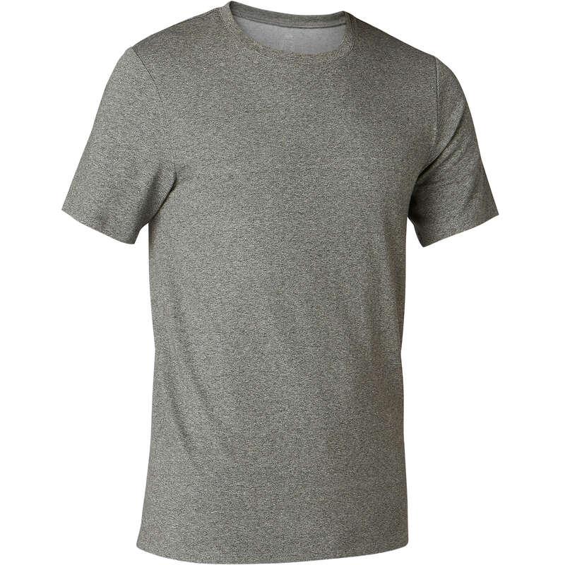 T-SHIRT E SHORT UOMO Ginnastica, Pilates - T-shirt uomo gym 500 verde NYAMBA - Abbigliamento uomo