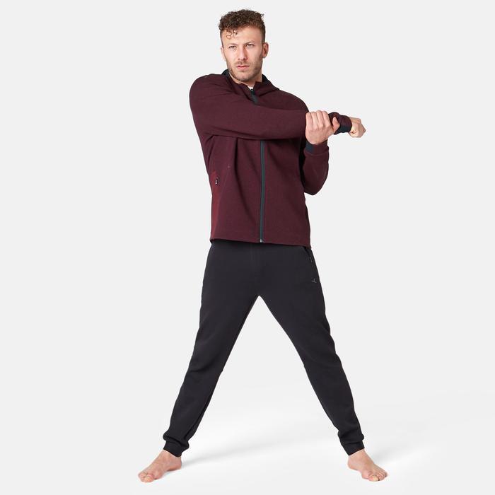 Veste 530 spacer capuche Pilates Gym douce homme bordeaux chiné