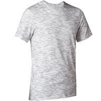 500 Slim-Fit Exercise and Pilates T-Shirt - White Print