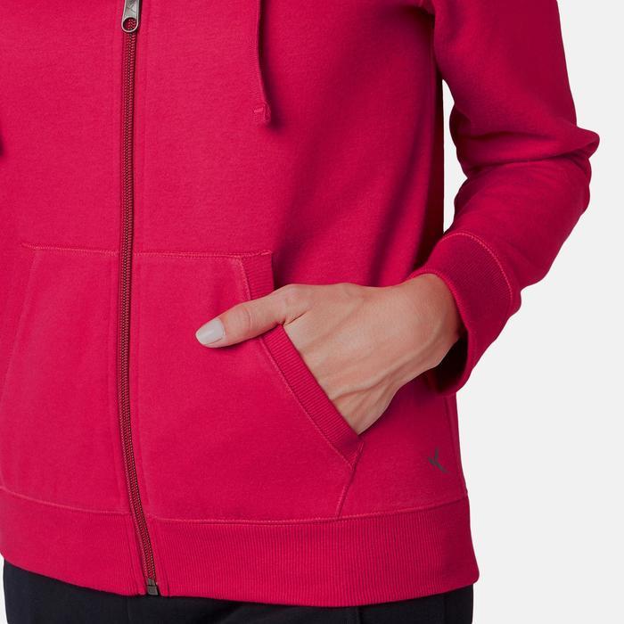 Veste 520 capuche Pilates Gym douce femme rouge foncé