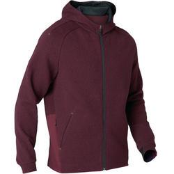 530 Spacer Hooded Pilates & Gentle Gym Jacket - Mottled Burgundy