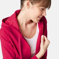 Жіноча кофта 520 для гімнастики та пілатесу, з капюшоном - Темно-червона