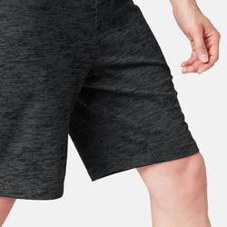 Sporthose kurz knielang 520 Regular Pilates sanfte Gymnastik Herren grau Print