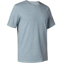 T-Shirt 500 Regular Gym & Pilates Herren blau meliert