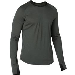 Langarmshirt 120 Merinowolle Regular Gym & Pilates Herren kaki