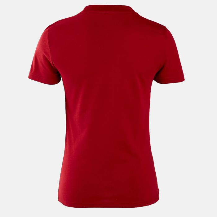 T-Shirt Adidas Pilates Gym douce slim femme rouge