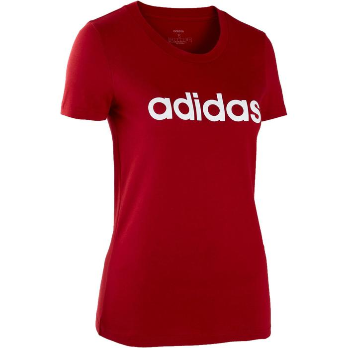Dames T-shirt slim fit rood