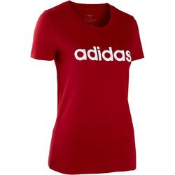 Dames T-shirt voor pilates en lichte gym slim fit rood