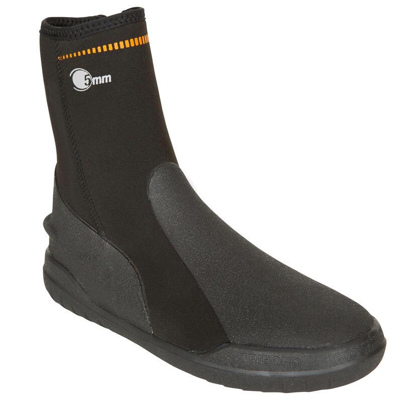 Unisex Dalış Ayakkabısı - 5 mm - Siyah - SCD