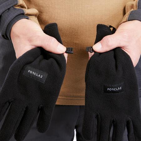 Trek 100 Mountain Trekking Recycled Fleece Gloves - Adults