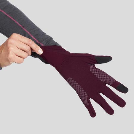 Adult Mountain Trekking Liner Gloves Trek 500
