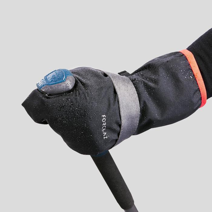Überzieh-Handschuhe Trek 500 wasserdicht Erwachsene schwarz