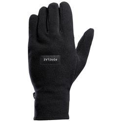 Adult Fleece Mountain Trekking Gloves - TREK100 - Black