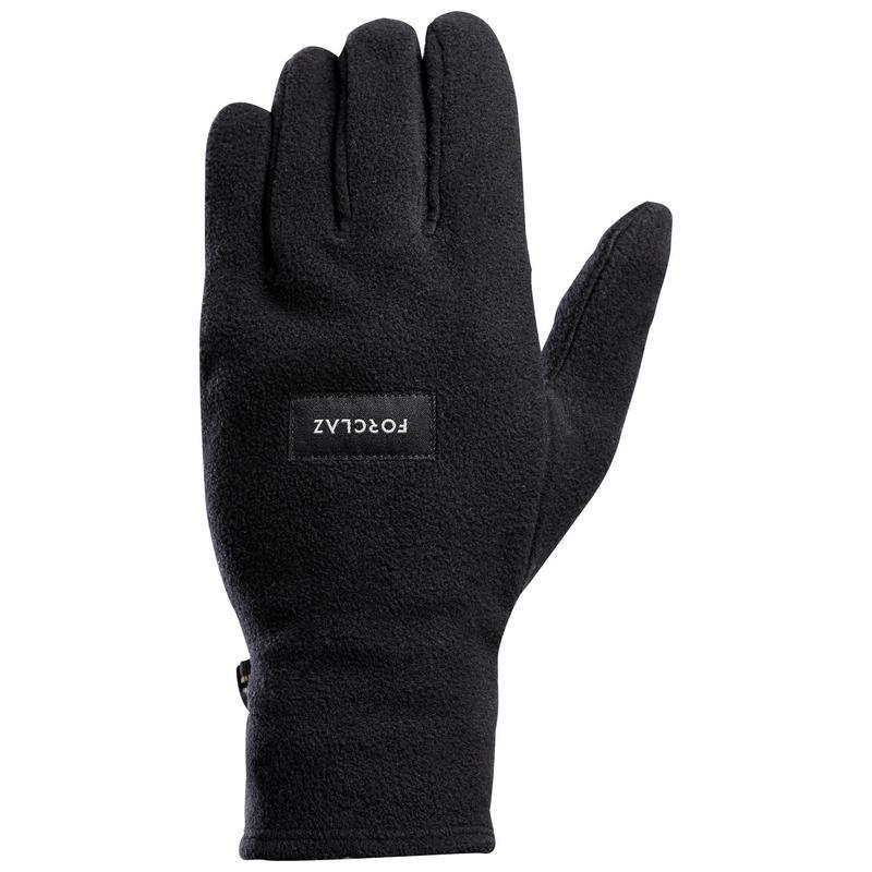 Mănuși din polar reciclat Trekking la munte Trek100 negru Adulți