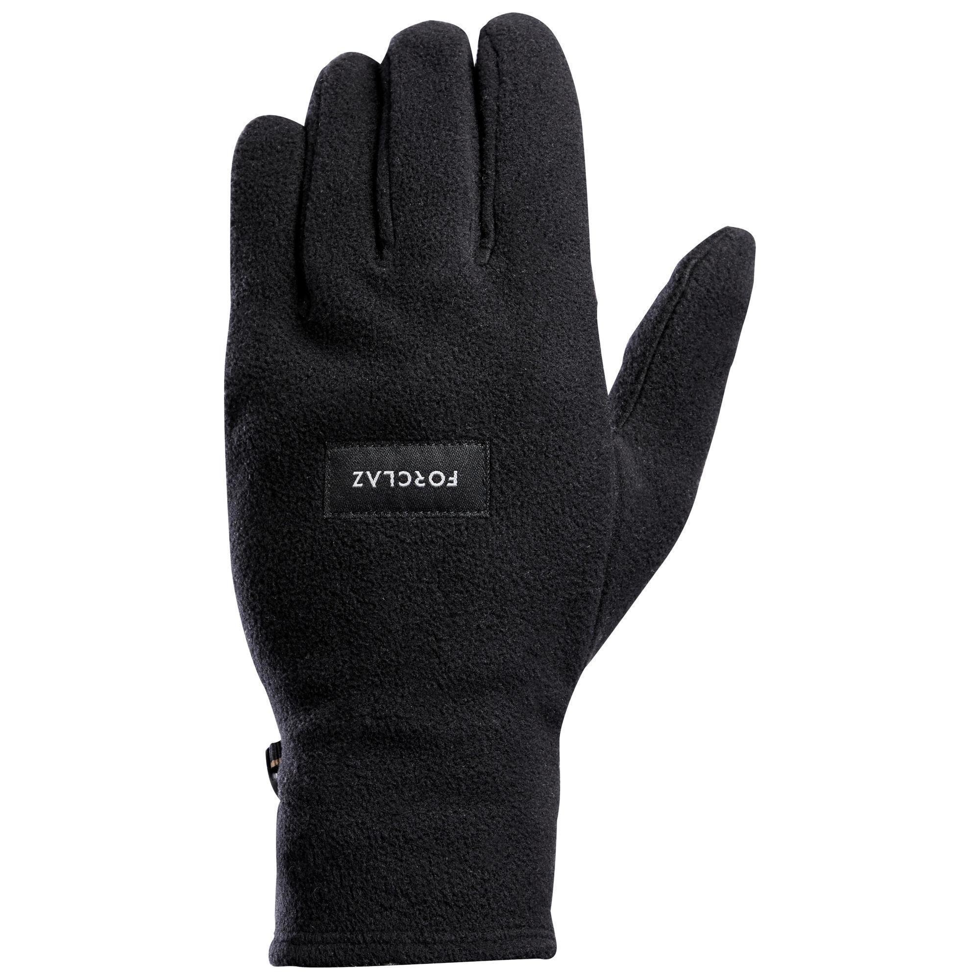 Fleecehandschuhe Bergtrekking Trek 100 Erwachsene schwarz | Accessoires > Handschuhe > Fleecehandschuhe | Forclaz