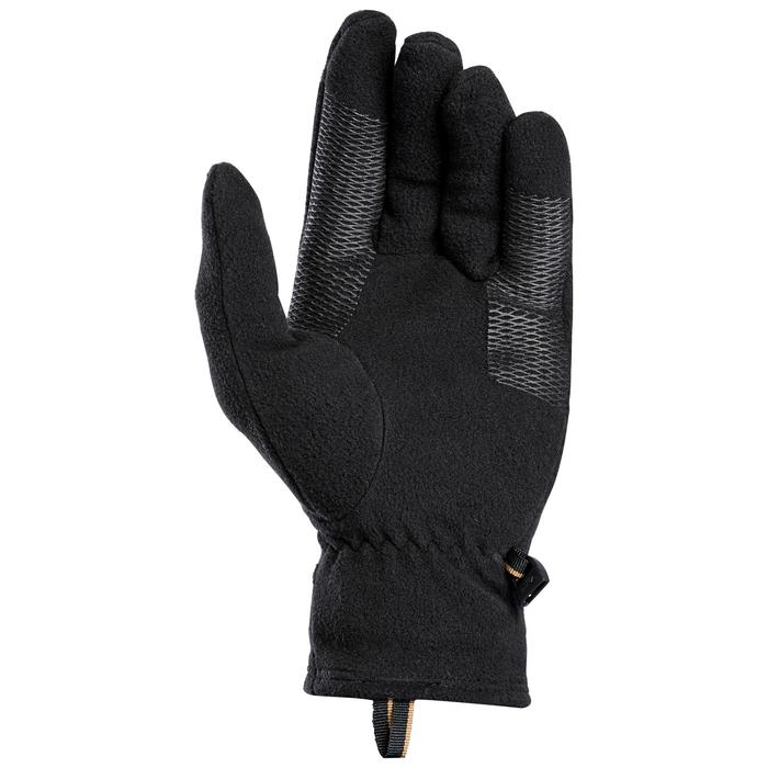 Adult Mountain Trekking Recycled Fleece Gloves Trek 100 - Black
