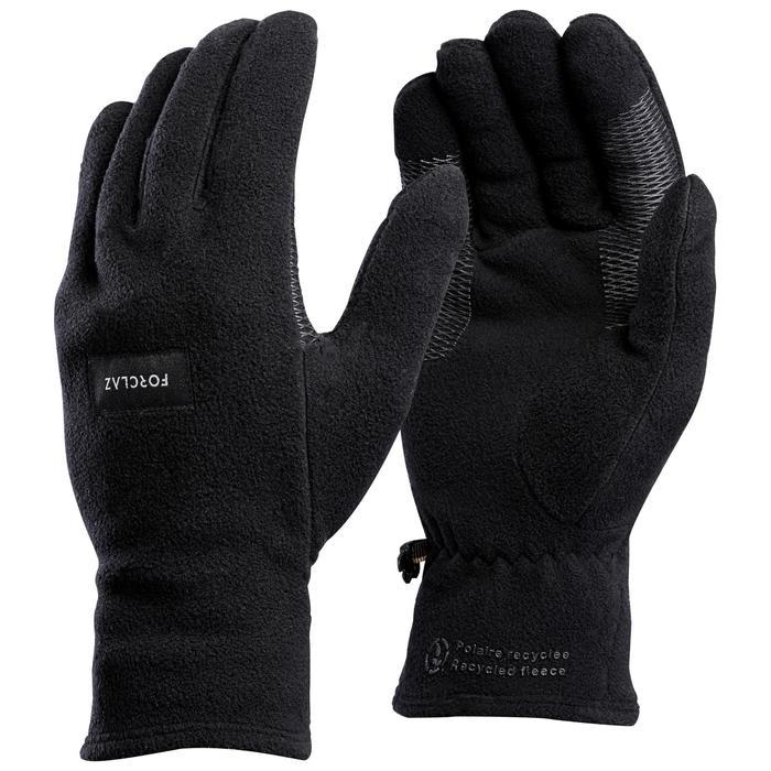 Handschuh Trek 100 Fleece Erwachsene schwarz
