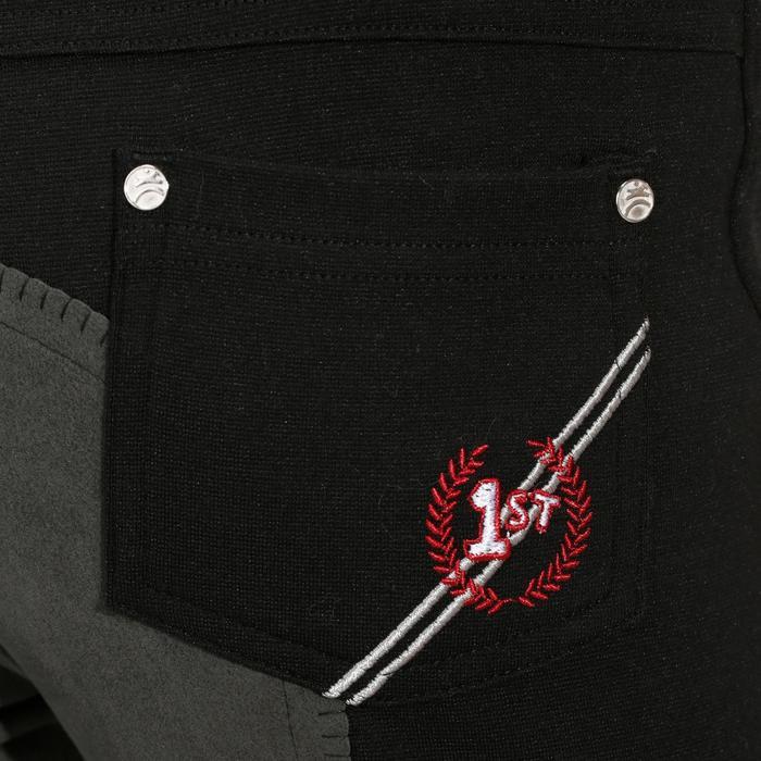 Pantalon équitation enfant FULLSEAT noir et - 170010