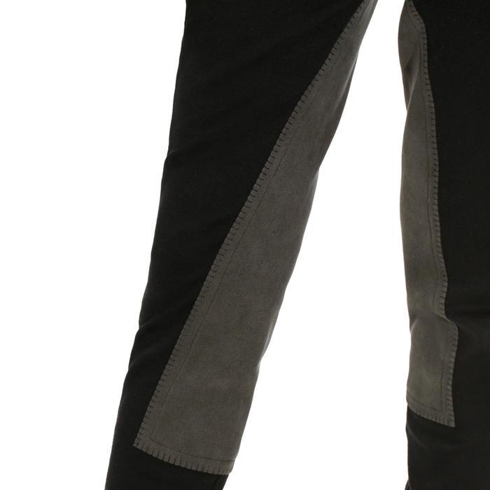 Pantalon équitation enfant FULLSEAT noir et - 170011