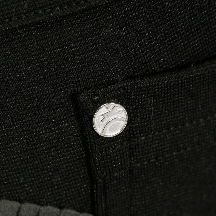 Kinderrijbroek Fullseat zwart en grijs