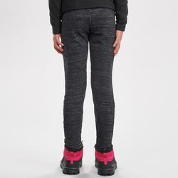 Leggings cálidos de senderismo SH100 WARM niña 7-15 años negro