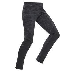 7到15歲兒童款健行保暖緊身褲SH100