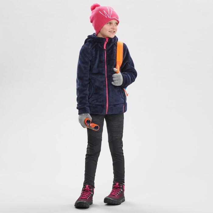 Legging chaud de randonnée SH100 WARM fille 7-15 ans noir