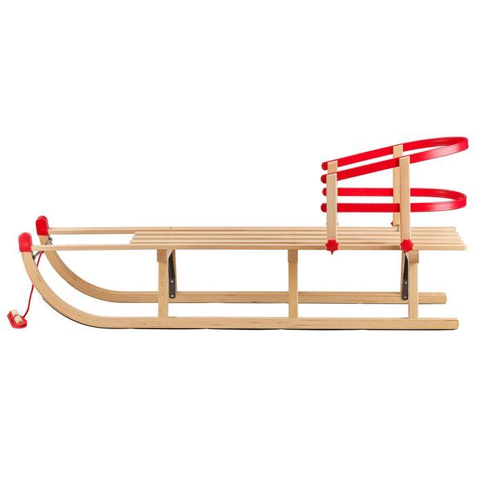 Siège pour luge bois rouge enfant Davos
