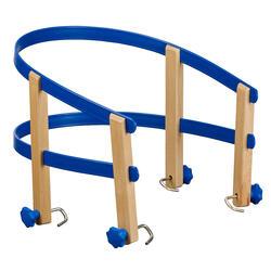 Kinderzitje voor houten slee blauw