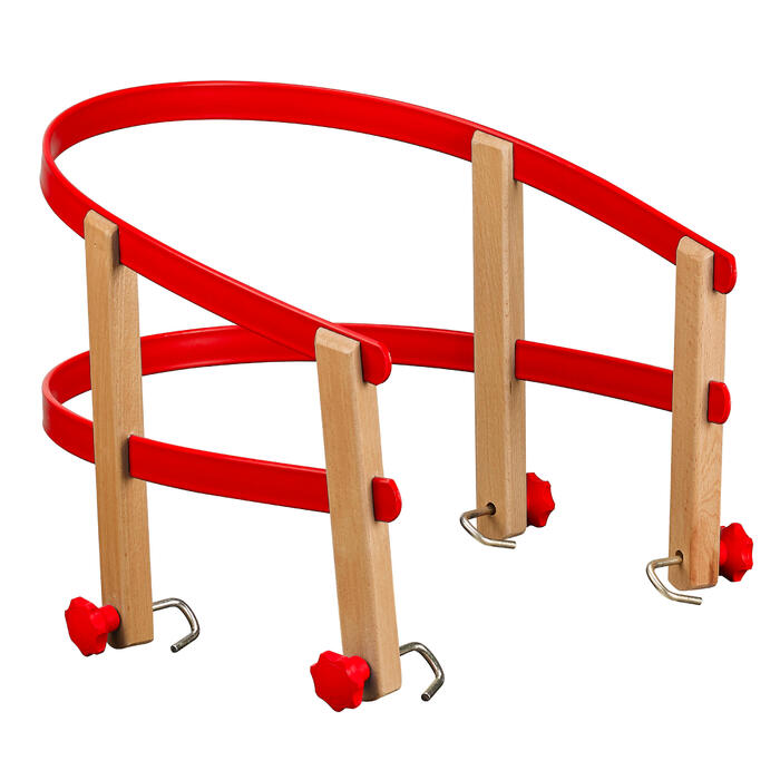 Kinderzitje voor houten slee rood