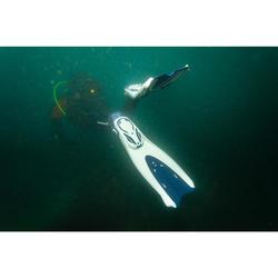 Open hiel duikvinnen met elastisch bandje SCD 500 OH blauw/grijs