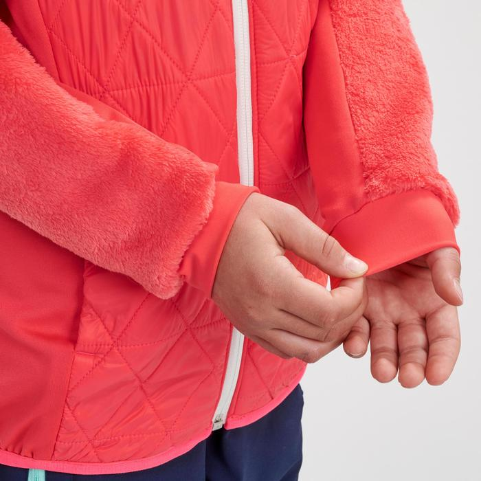 Hybride wandelfleece voor de sneeuw meisjes SH500 X-Warm 7-15 jaar roze
