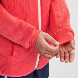 Polaire hybride de randonnée neige SH500 X-WARM fille 7-15 ans rose