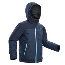 Veste chaude de randonnée neige SH500 X-WARM 3en1 fille 8-14 ans bleue