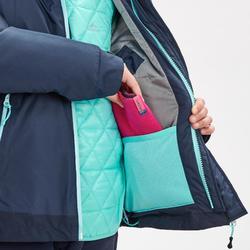 Warme waterdichte 3-in-1 jas voor de sneeuw meisjes SH500 X-Warm 8-14 jaar blauw